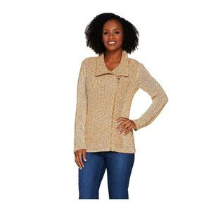 NWT Mixed Stitch Sweater Jacket Toffee Large